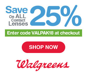 25% Off Contact Lens at Walgreens