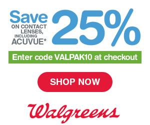 25% Off Contact Lens at Walgreens