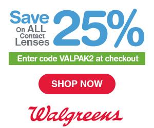 25% Off Contact Lenses at Walgreens