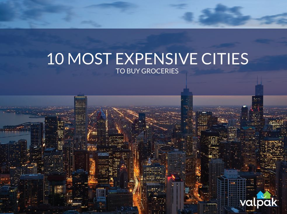 <center>10 Most Expensive Cities<br> <center>to Buy Groceries