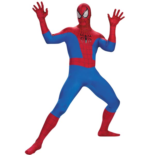 Spiderman costume available from Official Costumes