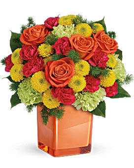 The Teleflora Citrus Smiles Bouquet