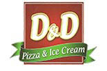 D & D PIZZA logo