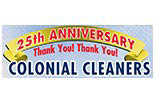 COLONIAL CLEANERS- DRY CLEANING logo