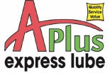 A PLUS EXPRESS LUBE logo