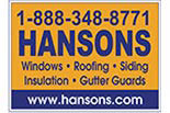 HANSON's WINDOWS & ROOFING logo