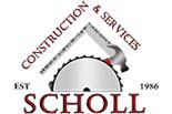 MIKE SCHOLL CONSTRUCTION and SERVICES logo