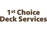 1st CHOICE DECK SERVICE logo