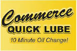 COMMERCE QUICK LUBE logo