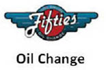 FIFTIES LUBE & OIL CHANGE logo