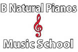 B NATURAL PIANO'S logo