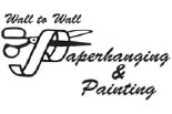WALL TO WALL PAPERHANGING & PAINTING logo