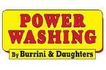 BURRINI'S POWERWASHING logo