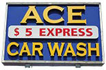 ACE CAR WASH logo