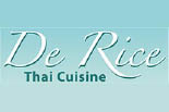 DE RICE THAI CUISINE logo