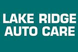 LAKE RIDGE AUTO CARE logo