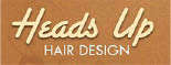 HEADS UP HAIR DESIGN logo