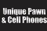 UNIQUE PAWN & CELL PHONES logo