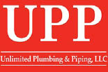 UNLIMITED PLUMBING & PIPING logo