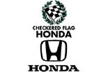 CHECKERED FLAG HONDA logo