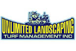 UNLIMITED LANDSCAPING TURF MANAGEMENT logo