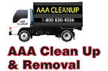 AAA CLEAN-UP AND REMOVAL logo