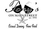 TONY'S ON MAIN STREET logo