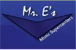 MR. E'S MUSIC SUPERCENTER logo