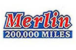 Merlin 200,000 Mile Shops logo