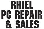 RHIEL PC REPAIR AND SALES logo