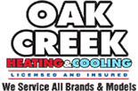 OAK CREEK HEATING AND COOLING logo