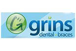 GRINS DENTAL logo