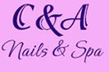 C & A NAILS & SPA logo