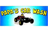 PAPA'S CAR WASH logo