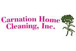 CARNATION HOME CLEANING logo