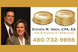 STEVEN M VOGT, CPA, EA - TAX & FINANCIAL SERVICES logo