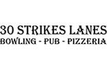 30 STRIKES LANES BOWLING, PUB AND PIZZERIA logo