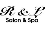 R & L HAIR SALON logo