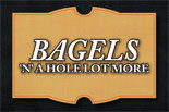 BAGELS N A HOLE LOT MORE logo