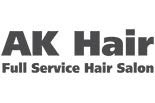 AK HAIR SALON logo