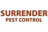 SURRENDER PEST CONTROL logo