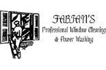 FABIAN'S PRO WINDOW CLEANING  & POWER WASHING logo