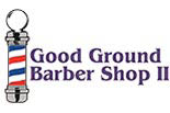 GOOD GROUND BARBER SHOP II logo