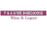 P & A WINE WAREHOUSE logo