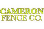 CAMERON FENCE CO. logo