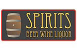 SPIRITS BEER WINE LIQUOR logo