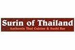 SURIN OF THAILAND AUTHENTIC THAI CUISINE, SUSHI & MARTINI BAR logo