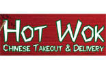 HOT WOK- WE DELIVER logo