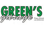 GREENS GARAGE logo