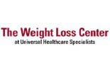 THE WEIGHT LOSS CENTER AT UNIVERSAL HEALTHCARE SPECIALISTS logo